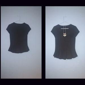 Fit & Flare Black Blouse